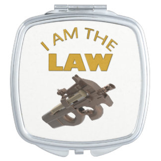 I am the law with a m4a1 machine gun compact mirrors