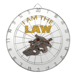 I am the law with a m4a1 machine gun dartboard
