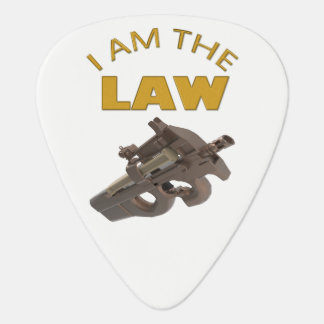 I am the law with a m4a1 machine gun guitar pick
