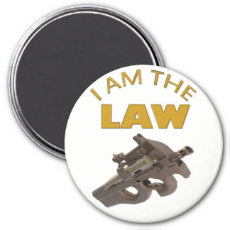 I am the law with a m4a1 machine gun magnet