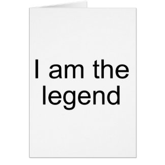 I am the legend Official Product Card