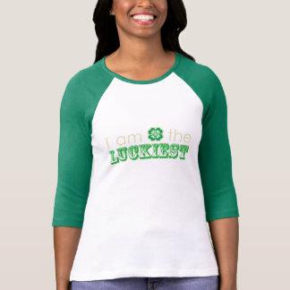 """""""I am the LUCKIEST"""" Women's 3/4 sleeve t-shirt"""