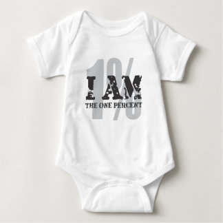 I am the one percent! 1%! baby bodysuit