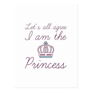 I Am The Princess Postcard