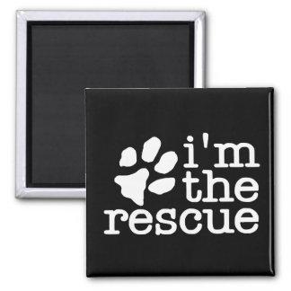 I am the rescue - Pet Adoption Paw Print Magnet