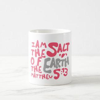 I Am The Salt of The Earth - Pink/Gray Coffee Mug