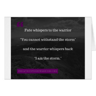 I am the Storm collection Card