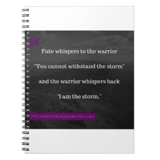 I am the Storm collection Spiral Notebook