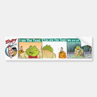 """""""I Am The Toad"""" bumper sticker"""