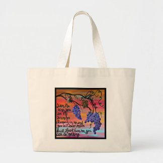 I am the Vine John 15 5 Large Tote Bag