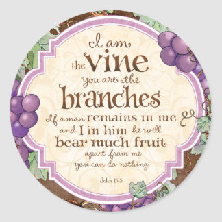 I Am the Vine Scripture Stickers