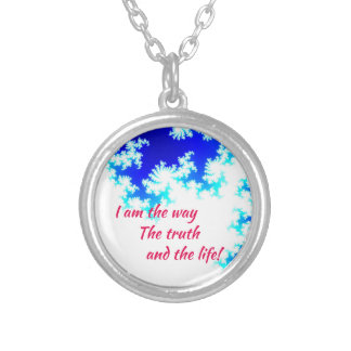 I am the way silver plated necklace