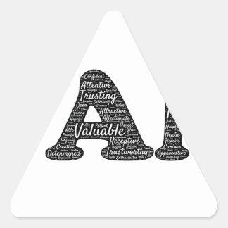 i-am triangle sticker