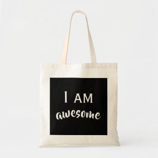 I am typography tote bag