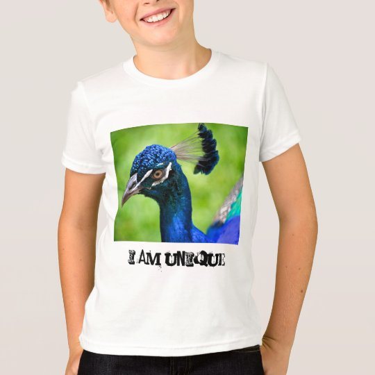 I am unique Peacock Kid's Light Tee