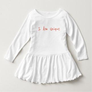 I Am Unique Toddler Ruffle Dress