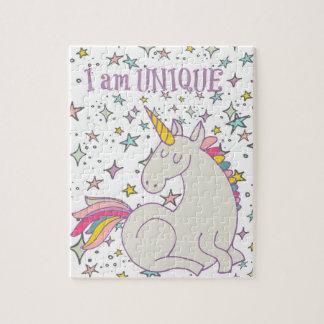 """I am UNIQUE - Unicorn Design Puzzle 8"""" x 10"""""""