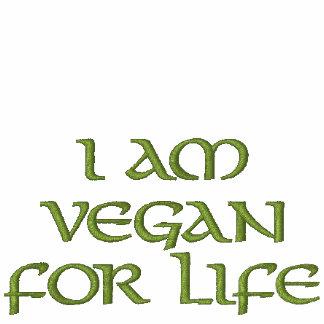 I Am Vegan For Life. Green. Slogan. Custom