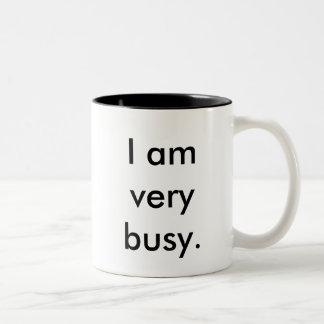I am very busy two-toned mug
