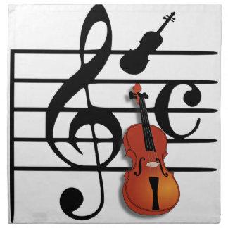 I Am Violin_ Printed Napkins