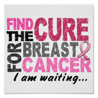 I Am Waiting Breast Cancer Poster