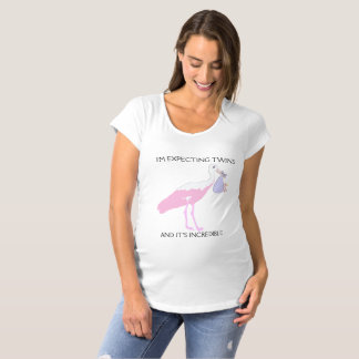 I am waiting for twin small girl/ maternity T-Shirt
