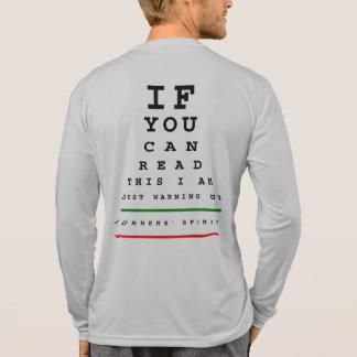 I Am Warming Up Eye Chart - Sport-Tek LS Running T-Shirt
