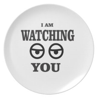 i am watching you plate