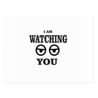 i am watching you postcard