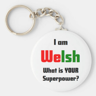 i am welsh keychain