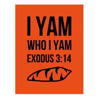 I Am Who I Am Exodus Humor Postcard