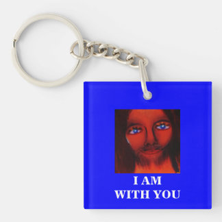 I AM WITH YOU Double-Sided SQUARE ACRYLIC KEYCHAIN