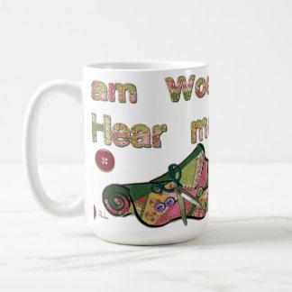 I Am Woman Hear Me Sew Classic White Coffee Mug