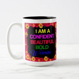 I Am Woman Two-Tone Coffee Mug