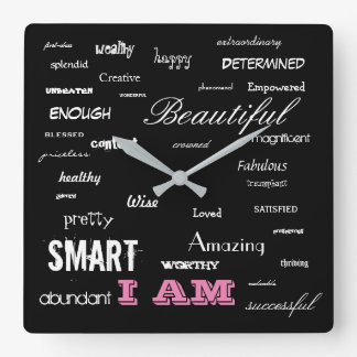 I am....yes, you are. square wall clock