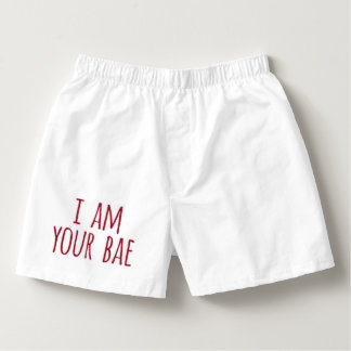 I am Your Bae White Boxer Shorts Boxers