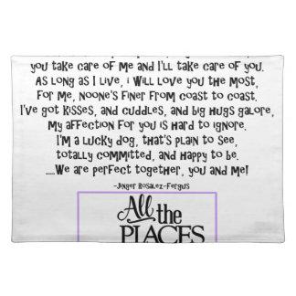 I am your dog FNL BACK purple copy Placemat