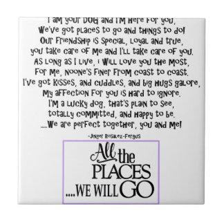 I am your dog FNL BACK purple copy Tile