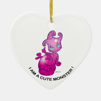 I amndt has cute monster! ceramic ornament