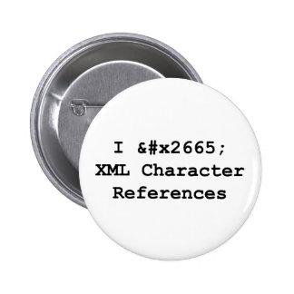 I &#x2665 XML 2 Inch Round Button