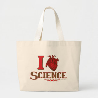 I anatomical heart science large tote bag