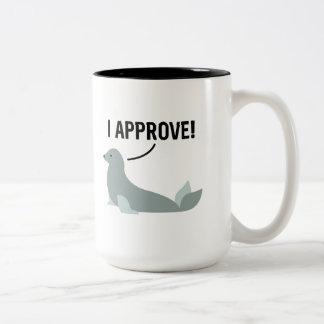 I Approve Two-Tone Coffee Mug