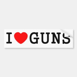 I armes à feu de coeur adhésif pour voiture