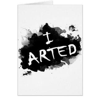 I arted card