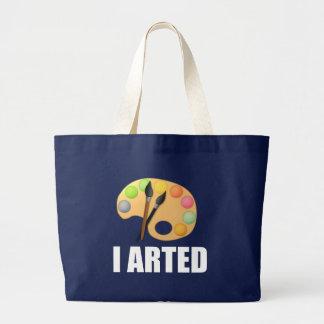 I arted large tote bag