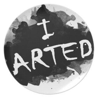 I arted plate