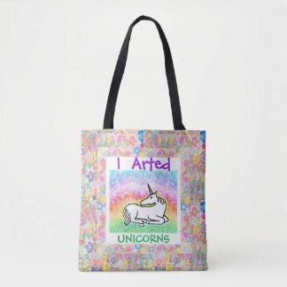 I  Arted Unicorns - Art Tote Bag
