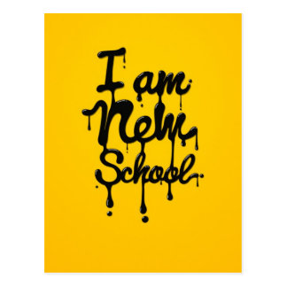 I at the new school (Swag, dopes, Hipster) Postcard