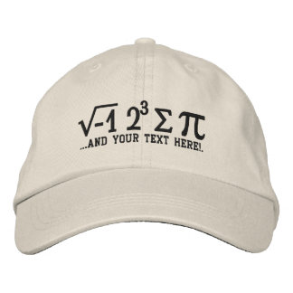 I ate some pi and Your Text Embroidered Hat
