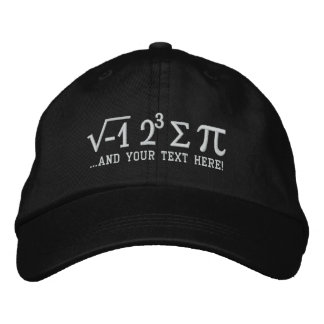 I ate some pi and Your Text Math Pun Embroidered Hat